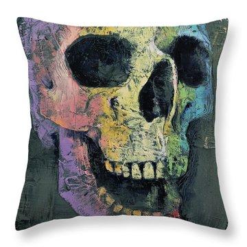 Happy Skull Throw Pillow
