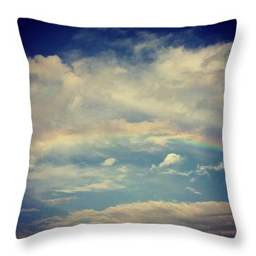 Rainbow In The Clouds Throw Pillow