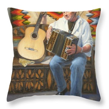 Throw Pillow featuring the painting Rainbow Sky by Donelli  DiMaria