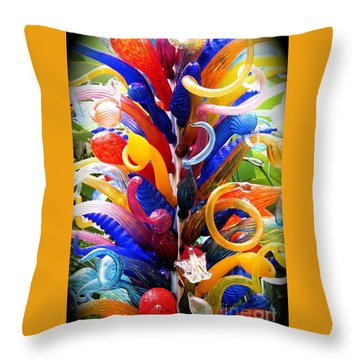 Rainbow Spirals Throw Pillow