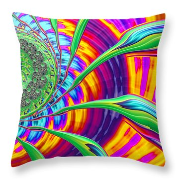 Throw Pillow featuring the photograph Rainbow Sun by Ronda Broatch