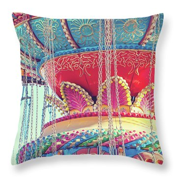 Throw Pillow featuring the photograph Rainbow Swings by Melanie Alexandra Price