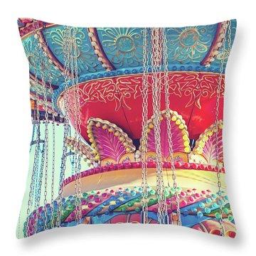 Rainbow Swings Throw Pillow