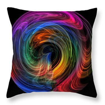 Throw Pillow featuring the photograph Rainbow Through Curved Air by Mark Blauhoefer