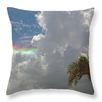 Rainbow To Nowhere Throw Pillow