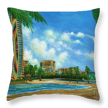 Rainbow Tower Throw Pillow