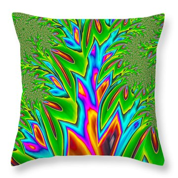 Throw Pillow featuring the photograph Rainbow Tree by Ronda Broatch