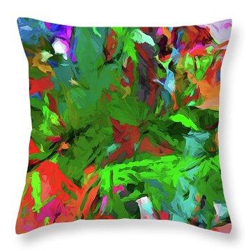 Rainbow Tropic Throw Pillow