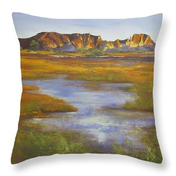 Rainbow Valley Northern Territory Australia Throw Pillow by Chris Hobel