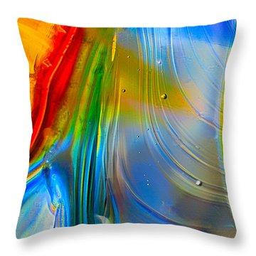 Rainbow Waterfalls Throw Pillow