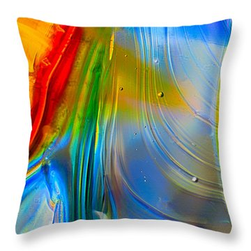 Rainbow Waterfalls Throw Pillow