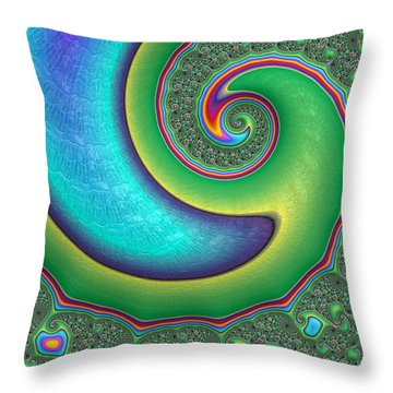 Throw Pillow featuring the photograph Rainbow Wave by Ronda Broatch