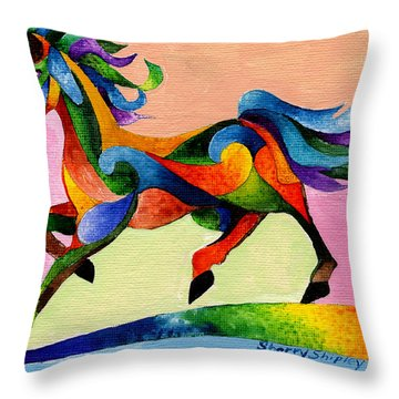 Rainbow Wind Throw Pillow