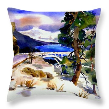 Rainbowbridge Above Donner Lake Throw Pillow