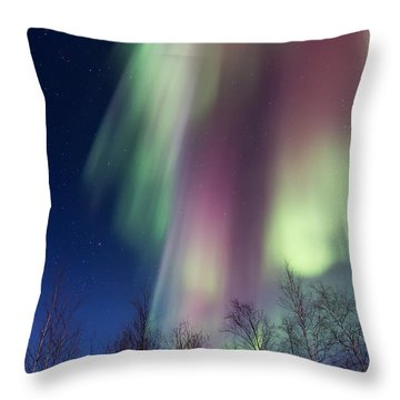 Rainbows And Ribbons Throw Pillow