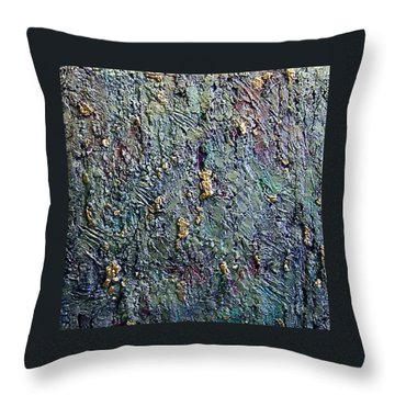 Throw Pillow featuring the painting Rainbows End by Bernard Goodman