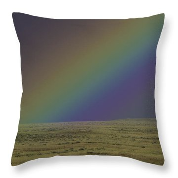 Rainbows End Throw Pillow