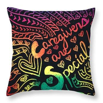 Rainbows Throw Pillow