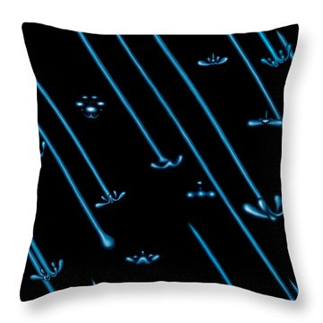 Raindance Iv - April Showers Throw Pillow