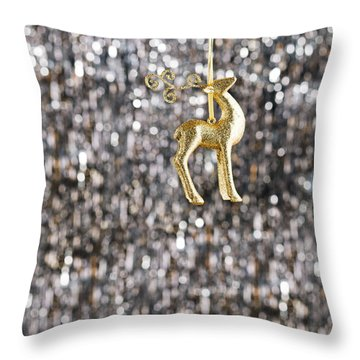 Throw Pillow featuring the photograph Raindeer by Ulrich Schade