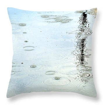 Raindrop Abstract Throw Pillow