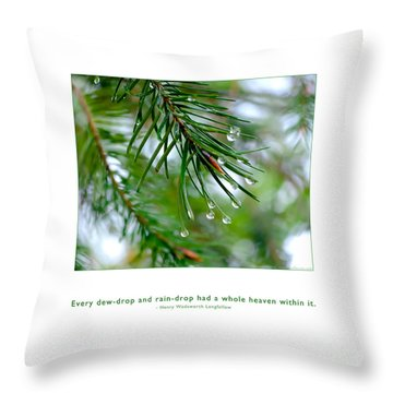 Throw Pillow featuring the photograph Raindrop Has Whole Heaven by Kristen Fox