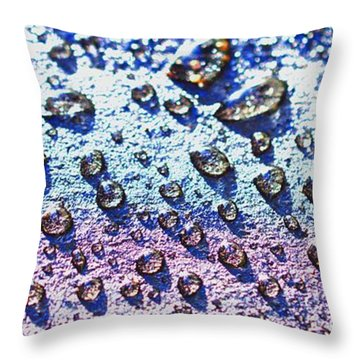 Raindrop Shingle Throw Pillow by Aliceann Carlton