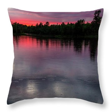 Throw Pillow featuring the photograph Raindrops At Sunset by Mary Amerman