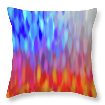raindrops No.1 Throw Pillow by Tom Druin
