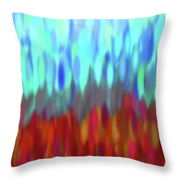 raindrops No.2 Throw Pillow by Tom Druin