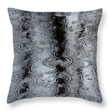 Raindrops On A Pond Throw Pillow