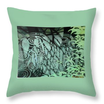 Raindrops-on-raindrops Throw Pillow by Anne Havard