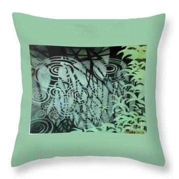 Raindrops-on-raindrops Throw Pillow