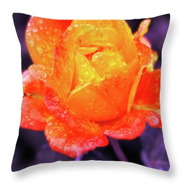 Throw Pillow featuring the photograph Raindrops On Roses by Howard Bagley
