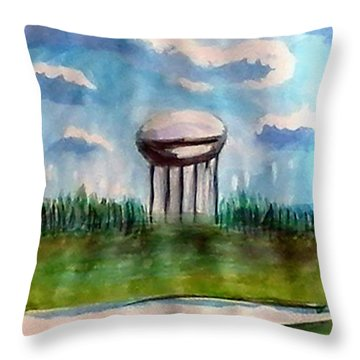 Raines Road Watertower Throw Pillow