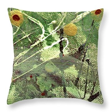 Throw Pillow featuring the mixed media Rainforest by Angela L Walker