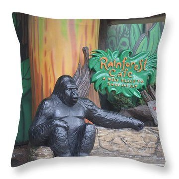 Rainforest Cafe Throw Pillow