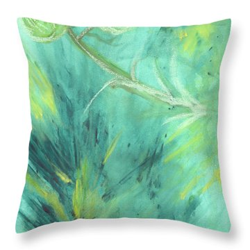 Rainforest Haze Throw Pillow