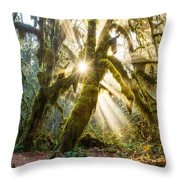 Rainforest Magic Throw Pillow