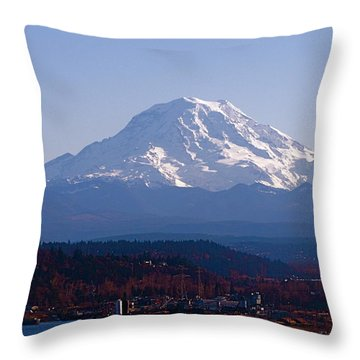 Throw Pillow featuring the photograph Rainier 3 by Sean Griffin