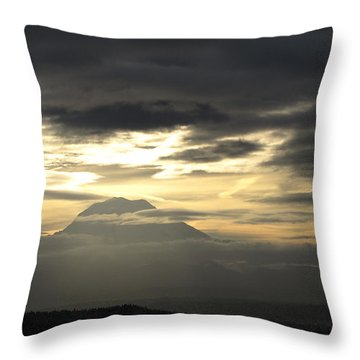 Throw Pillow featuring the photograph Rainier 4 by Sean Griffin
