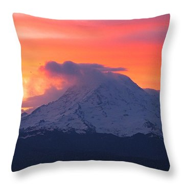 Throw Pillow featuring the photograph Rainier 6 by Sean Griffin