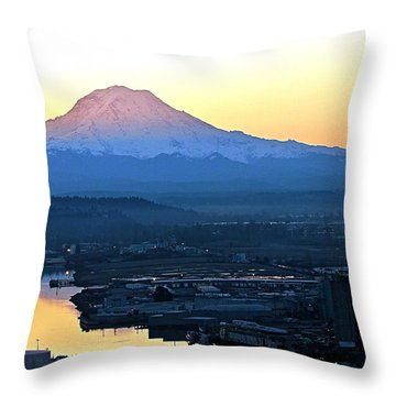 Throw Pillow featuring the photograph Rainier 7 by Sean Griffin
