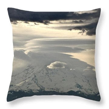 Throw Pillow featuring the photograph Rainier 8 by Sean Griffin