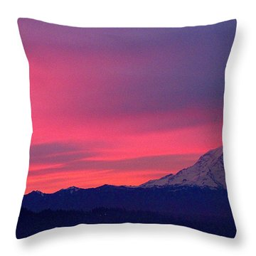 Throw Pillow featuring the photograph Rainier 9 by Sean Griffin