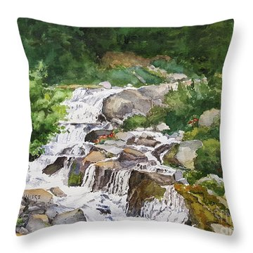 Rainier Cascades Throw Pillow