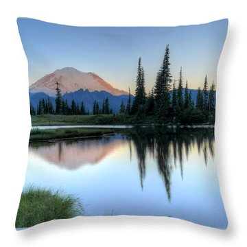 Rainier From Tipsoo Throw Pillow
