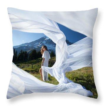 Rainier Ribbons Throw Pillow