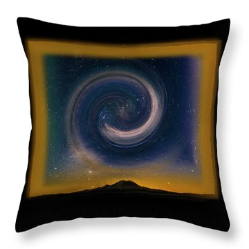Rainier Spinning Galaxy Throw Pillow