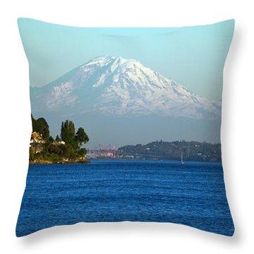 Rainier Vista Throw Pillow by Mike Reid